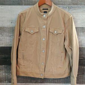 Gap strech courdroy tan denim jacket XL